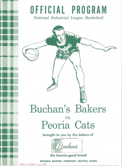 Program Cover from Buchan Bakers Game